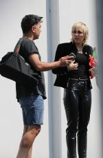 MILEY CYRUS Out and About in Los Angeles 08/19/2020