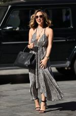 MYLEENE KLASS in a Plunging Dress Arrives at Smooth Radio in London 08/07/2020