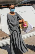 NATASHA POLY Wearing a Mask Out in Saint-tropez 07/08/2020