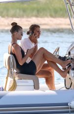 NINA AGDAL at a Motor Boat in ThH hamptons 08/10/2020