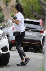 NINA DOBREV Leaves Her House in Los Angeles, August 2020