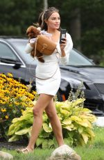 OLIVIA CULPO Out ith her Dog in Rhode Island 08/02/2020