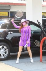 PHOEBE PRICE at a Gas Station in Hollywood 08/21/2020