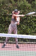 PHOEBE PRICE at a Tennis Courts in Los Angeles 08/04/2020