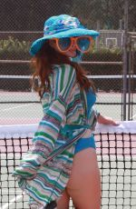 PHOEBE PRICE at Tennis Courts in Los Angeles 08/22/2020