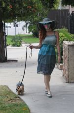 PHOEBE PRICE Out with Her Dog in Los Angeles 08/17/2020