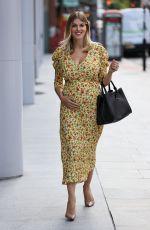 Pregnant ASHLEY JAMES Leaves Jeremy Vine Show in London 08/05/2020