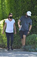 Pregnant LEA MICHELE and Zandy Reich Out in Los Angeles 08/09/2020