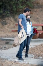 Pregnant RACHEL MCADAMS and Jamie Linden Out in Los Angeles 08/26/2020