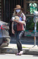 RACHEL MCADAMS Out for Iced Coffees in Los Feliz 08/10/2020