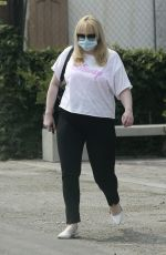 REBEL WILSON Wearing a Mask Out in West Hollywood 08/21/2020