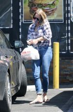 ROBIN WRIGHT in Denim at Pita Cafe in Los Angeles 07/31/2020