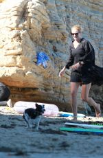 ROSIE HUNTINGTON-WHITELEY Out on the Beach in Malibu 08/09/2020