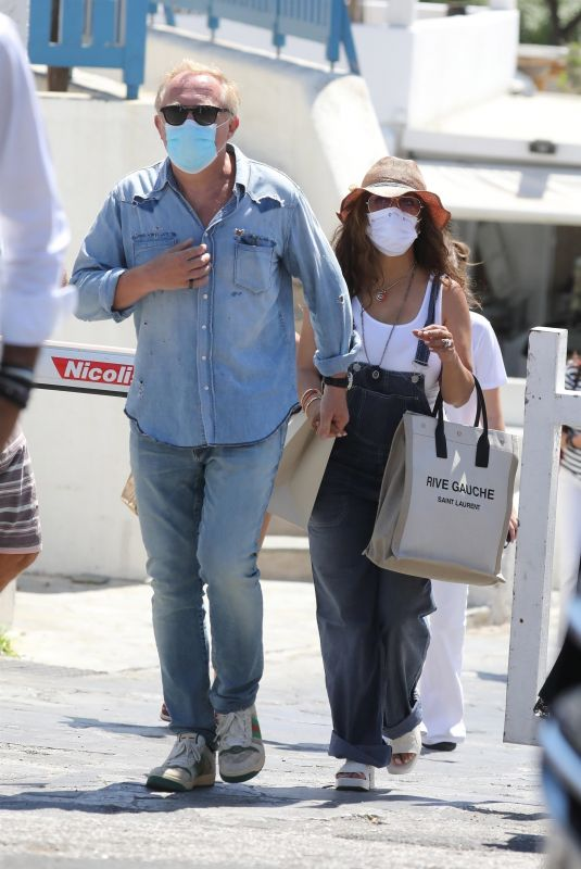 SALMA HAYEK and Francois-Henri Pinault Out in Mykonos 08/29/2020