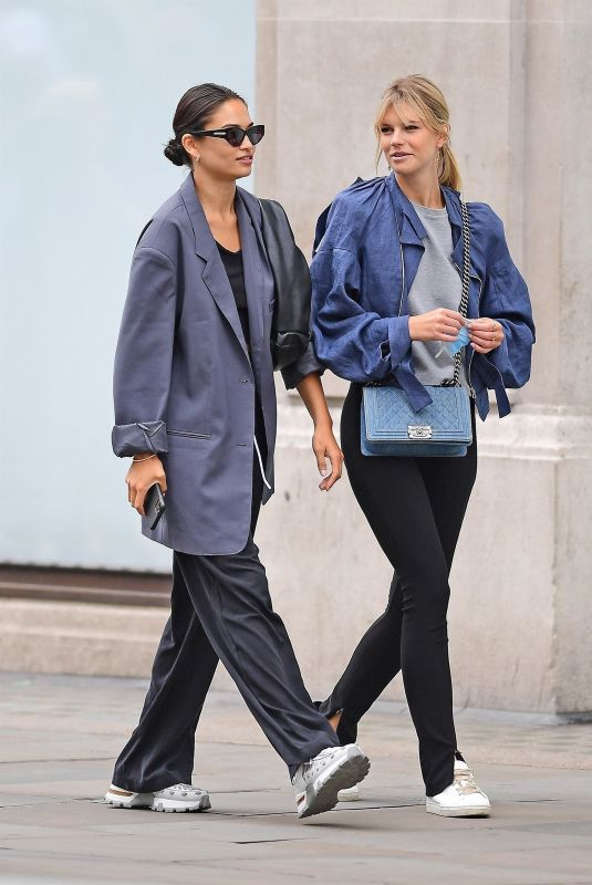 SHANINA SHAIK and NADINE LEOPOLD Out Shopping in London 08/26/2020