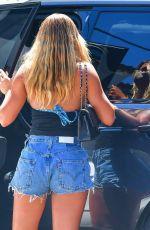 SOFIA RICHIE in Denim Shorts Arrives at a Friend