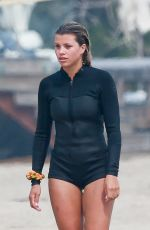 SOFIA RICHIE in Wetsuit Out on the Beach in Malibu 08/21/2020
