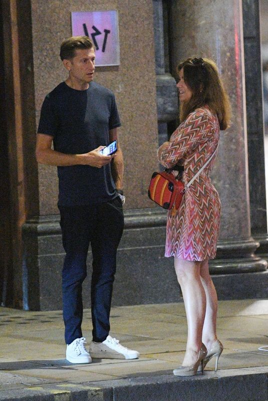 SUSANNA REID and Steve Parish Out in London 08/20/2020