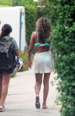 TAYSHIA ADAMS Out in Palm Springs 08/20/2020