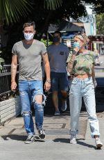 TINA LOUISE and Brian Austin Green at Sugar Taco in Los Angeles 07/29/2020