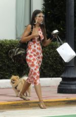 VANESSA CLAUDIO Out with Her Dog in Miami Beach 08/13/2020