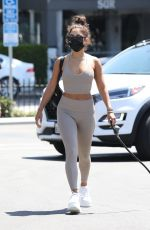 VANESSA HUDGENS in Tights Out with Her Dog in West Hollywood 08/26/2020