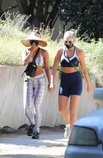 VANESSA HUDGENS Out Hikinig with a Friend in Los Angeles 08/10/2020