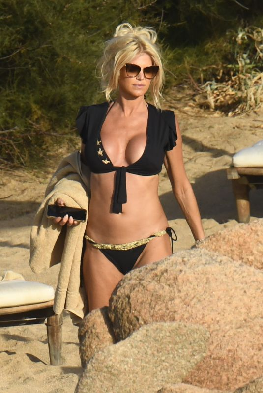 VICTORIA SILVSTEDT in a Black Bikini on Vacation in Italy 08/21/2020