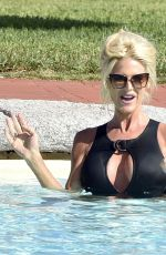 VICTORIA SILVSTEDT in Swimsuit at a Pool in Sardinia 08/19/2020