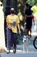 ZOE KRAVITZ Out with her Dog in New York 08/10/2020