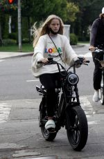 ABBY CHAMPION and Patrick Schwarzenegger Out Cycling in Los Angeles 08/31/2020