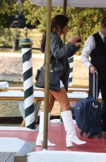 ADELE EXARCHOPOULOS Arrives at Hotel Excelsior in Venice 09/04/2020