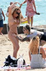 AISLEYNE HORGAN WALLACE in a Golden Bikini at a Beach in Bournemouth 09/07/2020