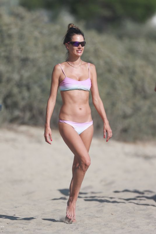 ALESSANDRA AMBROSIO in Bikini at a Beach in Santa Monica 09/19/2020