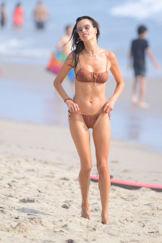 ALESSANDRA AMBROSIO in Bikini at a Beach in Santa Monica 09/26/2020