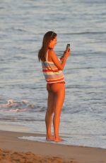 ALESSANDRA AMBROSIO in Bikini Bottoms at a Beach in Malibu 09/23/2020