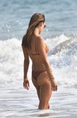 ALESSANDRA AMBROSIO in Bikini Out on the Beach in Santa Monica 09/26/2020