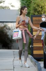ALESSANDRA AMBROSIO Leaves Gym in Los Angeles 09/21/2020