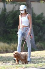 ALESSANDRA AMBROSIO Out with Her Dog in Los Angeles 09/03/2020