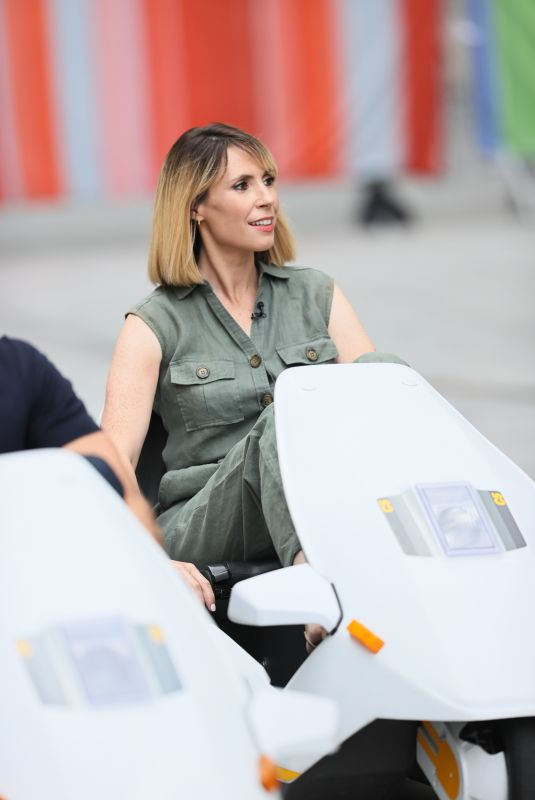 ALEX JONES Driving Cinclair C5 Vehicles on the Set of The One Show in London 09/08/2020