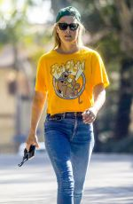ALI LARTER in Denim Out in Pacific Palisades 09/29/2020