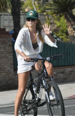 ALI LARTER Out Riding a Bike in Brentwood 09/27/2020