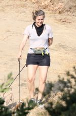 ALICIA SILVERSTONE Out Hiking with Her Dogs in Los Angeles 09/26/2020