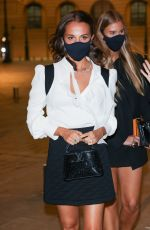 ALICIA VIKANDER Arrives at Louis Vuitton Stellar Jewelry Launch in Paris 09/28/2020