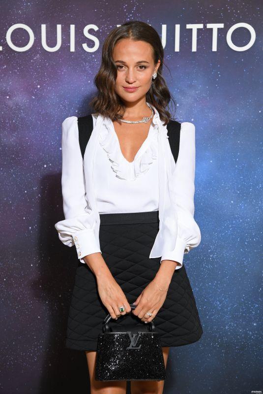 ALICIA VIKANDER at Louis Vuitton Stellar Jewelry Presentation in Paris 09/28/2020