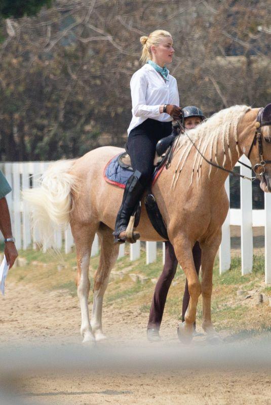 AMBER HEARD at Horseback Riding in Los Angeles 09/14/2020