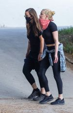 AMBER HEARD Out Hiking with a Friend at Griffith Park in Los Angeles 08/31/2020