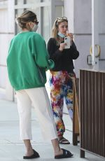 AMELIA and DELILAH HAMLIN at Comoncy Cafe in Beverly Hills 09/21/2020