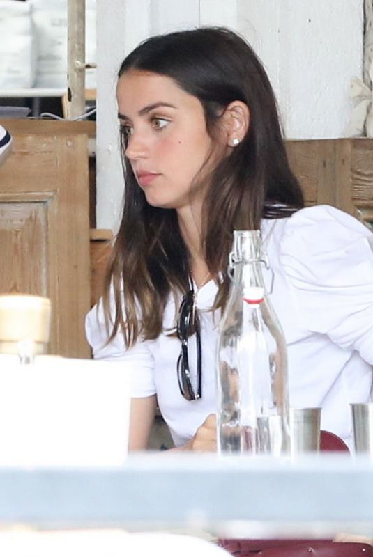 ANA DE ARMAS Out for Lunch with Friends in Los Angeles 09/25/2020