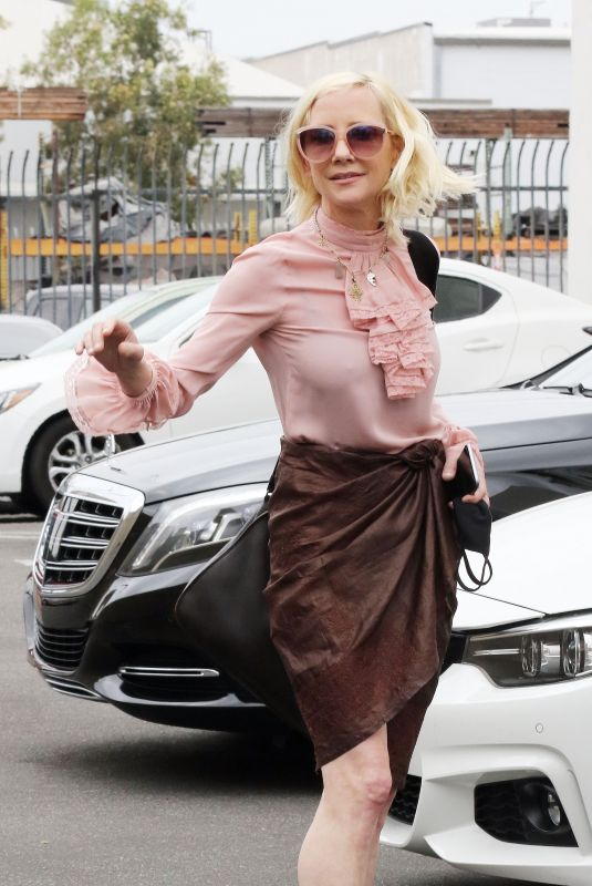 ANNE HECHE Heading to DWTS Studio in Los Angeles 09/07/2020